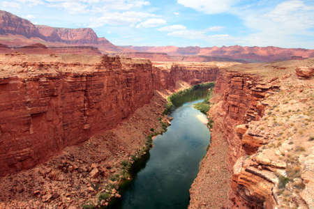 Colorado River flows through the Grand Canyon