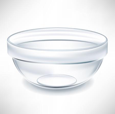 simple transparent empty bowl