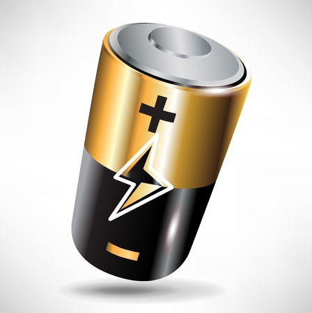 single battery black and metal shinny icon