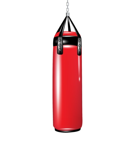 punching bag for boxing isolated on white