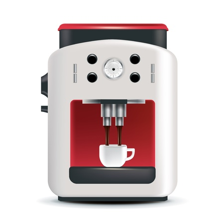coffee machine isolated on white background isolated