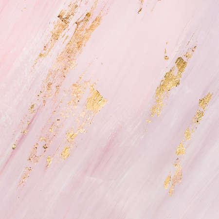Delicate pink marble background with gold. Place for your design.