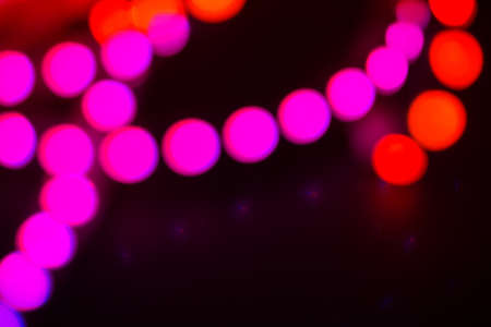 Photo pour Duotone Red and purple neon lights on black. Abstract background for your design. - image libre de droit