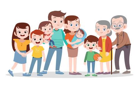 Illustration pour happy family vector illustration isolated - image libre de droit