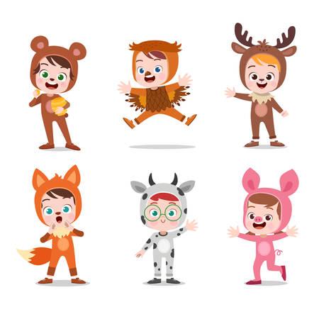 Foto de kids hapy cute with costume vector illustration - Imagen libre de derechos