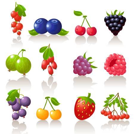Illustration pour berry icon set  - image libre de droit