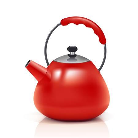 Illustration pour red kettle - image libre de droit