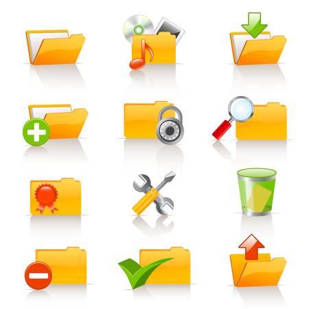 Set of vector folders