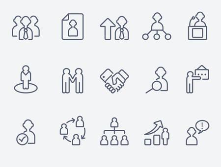 Ilustración de Human management icons - Imagen libre de derechos