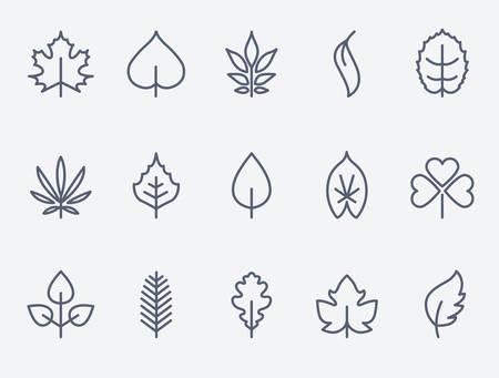 Illustration pour Leaf icons - image libre de droit