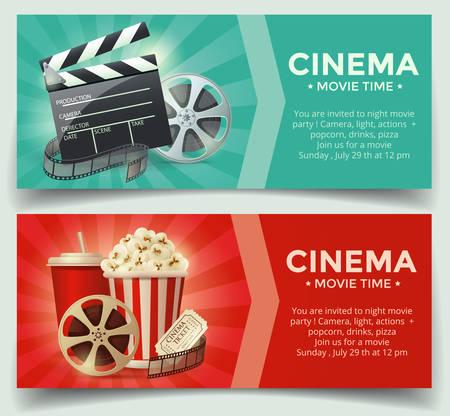 Illustration for Cinema concept. Vector illustration - Royalty Free Image