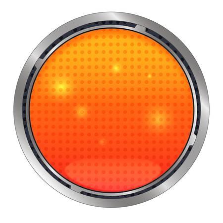 Illustration pour Vector Lava button, realism icon - image libre de droit