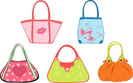 Illustration pour set woman's bags illustration - image libre de droit