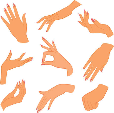 set woman hands