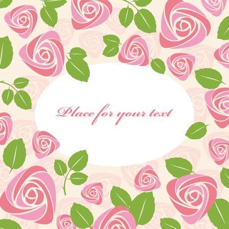 Greeting floral roses card