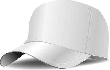 Ilustración de White baseball cap vector illustration - Imagen libre de derechos