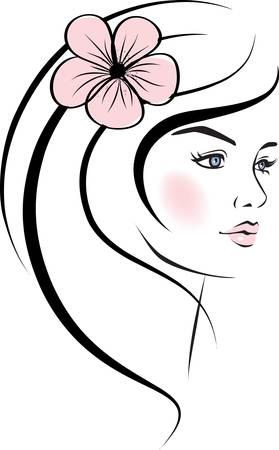 beauty woman face. design elements.