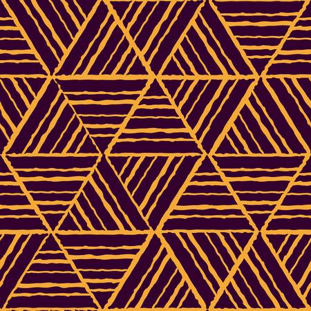 abstract ethnic seamless yellow geometric pattern  Colorful illustration