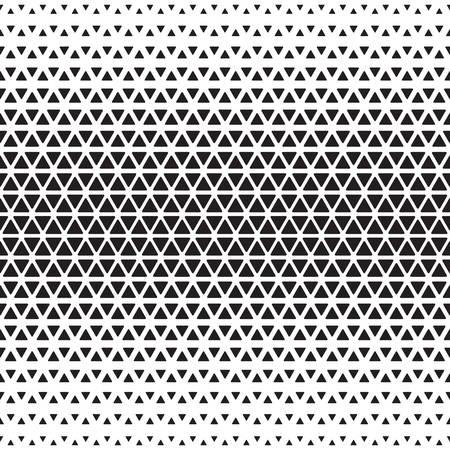 Illustration for Halftone monochrome geometric pattern. Background print design - Royalty Free Image