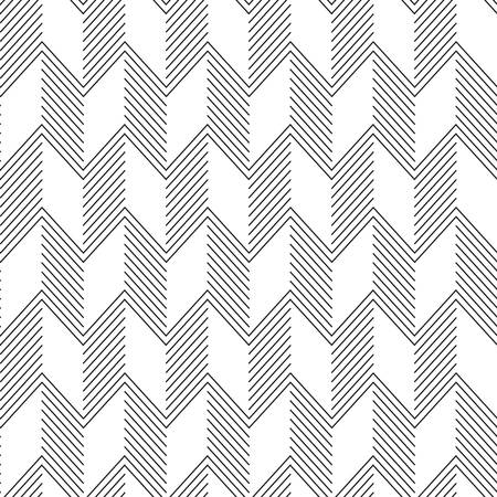 Seamless ZigZag Pattern. Abstract Black and White Background.