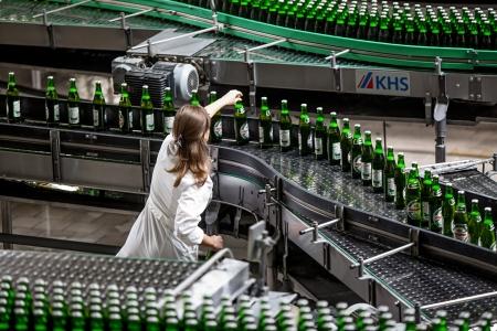 Beer production and bottling on Obolon corporation  Ukraine