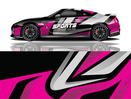 Illustration for sport car decal wrap design vector sport car decal wrap design vector - Royalty Free Image