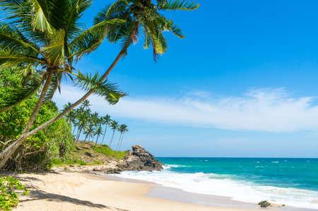 Foto de Tropical beach in Sri Lanka - Imagen libre de derechos