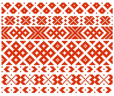 Belorussian traditional ornament four