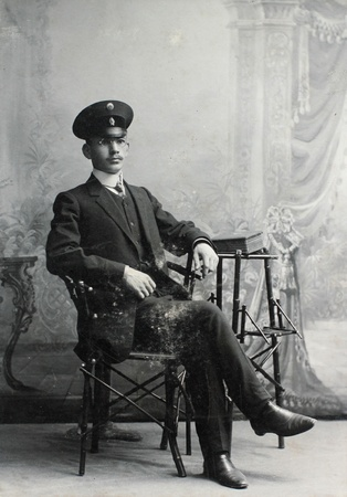 RUSSIAN EMPIRE - CIRCA 1910  vintage photo of young elegant man