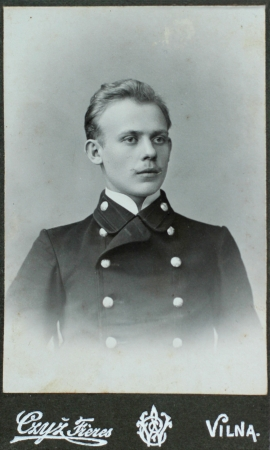 VILNIUS, RUSSIAN EMPIRE - CIRCA 1910  vintage photo of young elegant man