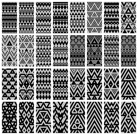 Tribal monochrome lace patterns  Vector illustration のイラスト素材