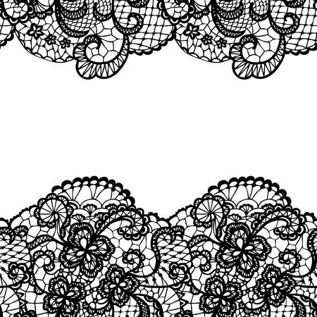 Illustration pour Seamless lace border. Vector illustration. - image libre de droit