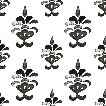 Black and White Ink Pattern
