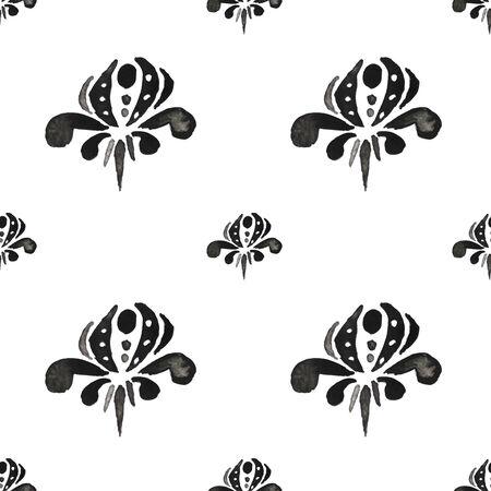 Boho Ink Pattern Wallpaper