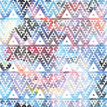 Tribal galaxy seamless pattern. Vector trendy illustration.