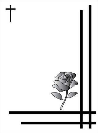 rose condolence card