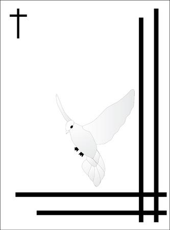 white bird condolence card