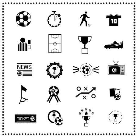 Ilustración de set of Soccer icons - Imagen libre de derechos