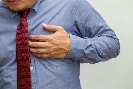 Photo pour Symptoms of Heart Disease, Warning signs of heart failure concept - image libre de droit
