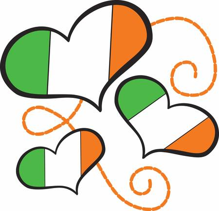 Collect the wide range of Ireland Flag Hearts designs by Concord
