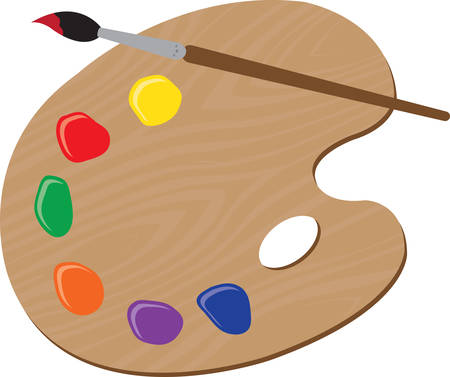 Use this paint palette for an artistic shirt.