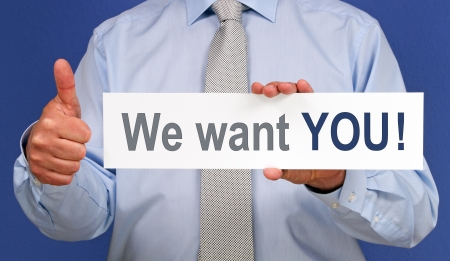 Photo for We want YOU - Royalty Free Image