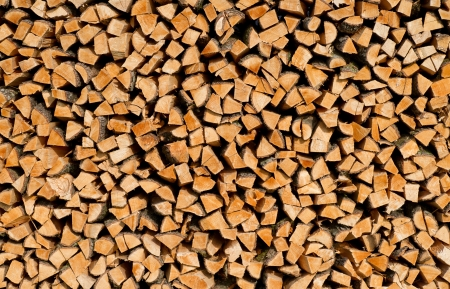 Wood Stack Wall Mural