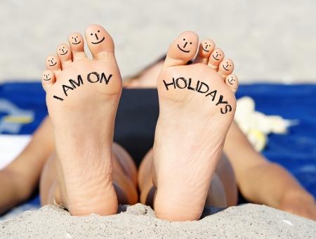 Photo pour I am on Holidays - image libre de droit