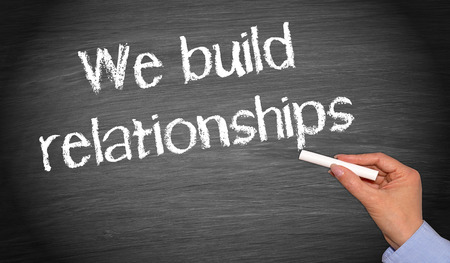 Photo for We build relationships - Royalty Free Image