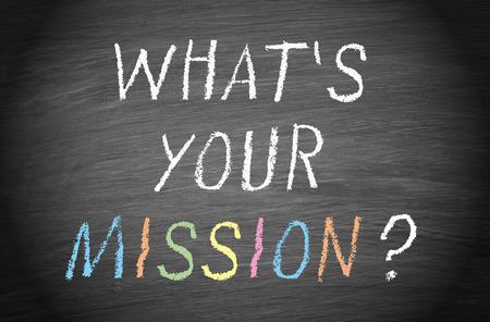Photo pour What is your mission - image libre de droit