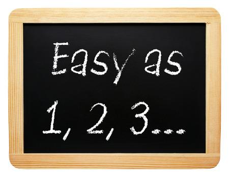 Photo pour Easy as 1, 2, 3    - image libre de droit