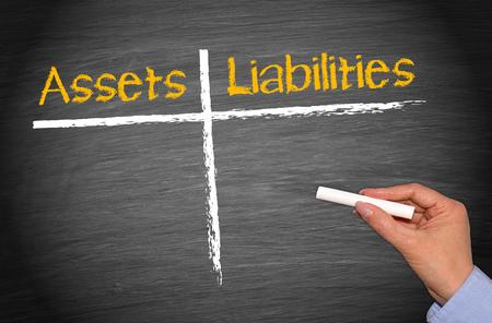 Photo pour Assets and Liabilities - image libre de droit