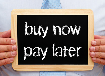 Photo pour buy now - pay later - image libre de droit