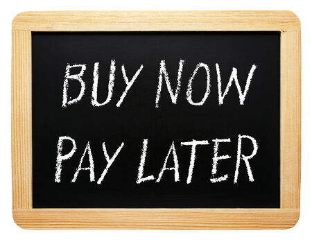 Photo pour Buy now and pay later - image libre de droit